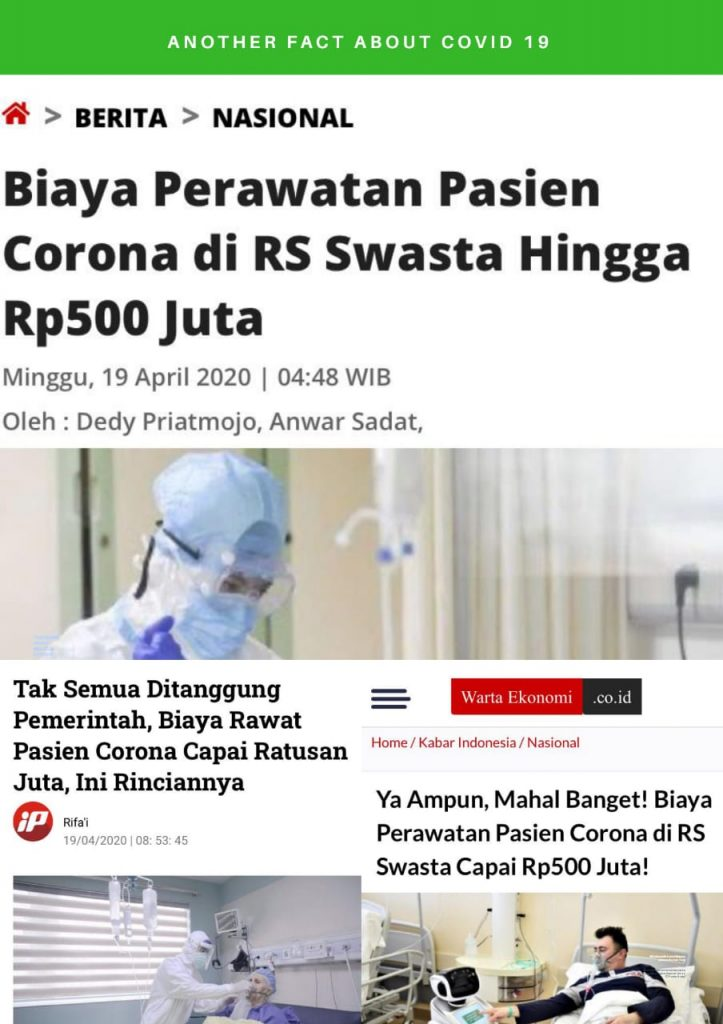 Biaya pengobatan corona